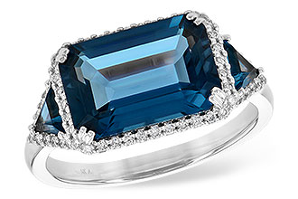 A208-20493: LDS RG 4.60 TW LONDON BLUE TOPAZ 4.82 TGW