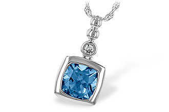 B207-32311: NECK 1.45 BLUE TOPAZ 1.49 TGW
