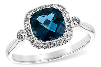 C207-28657: LDS RG 1.62 LONDON BLUE TOPAZ 1.78 TGW