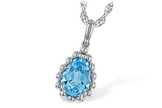 C207-31438: NECKLACE 1.55 CT BLUE TOPAZ