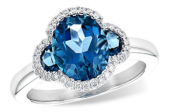 D208-24147: LDS RG 3.04 TW LONDON BLUE TOPAZ 3.20 TGW
