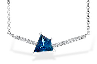 D208-25011: NECK .87 LONDON BLUE TOPAZ .95 TGW