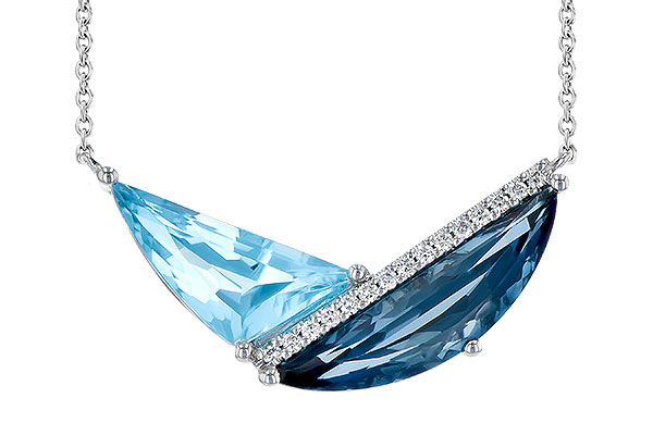 E290-94147: NECK 4.66 BLUE TOPAZ 4.75 TGW