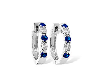 F019-12293: EARRINGS .33 SAPP .52 TGW