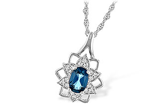 F207-34102: NECK .47 BLUE TOPAZ .56 TGW
