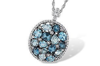 G205-49620: NECK 3.12 BLUE TOPAZ 3.41 TGW