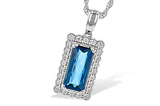 G208-25920: NECK 1.55 LONDON BLUE TOPAZ 1.70 TGW