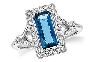 H208-24165: LDS RG 1.58 LONDON BLUE TOPAZ 1.75 TGW