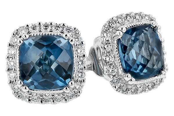 K207-28656: EARR 2.14 LONDON BLUE TOPAZ 2.40 TGW