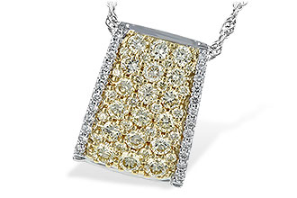 K207-29583: NECK .95 YELLOW DIAS 1.09 TW