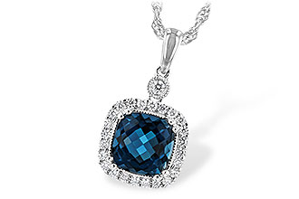 M207-28638: NECK 1.63 LONDON BLUE TOPAZ 1.80 TGW