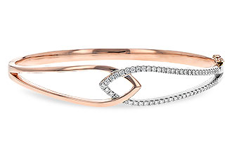 M207-35074: BANGLE BRACELET .50 TW (ROSE & WG)